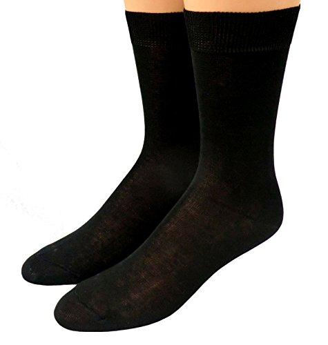 Shimasocks Herren Socken 100prozent Baumwolle gasiert-mercerisiert Dreierpack, Farben alle:schwarz, Größe:43/46