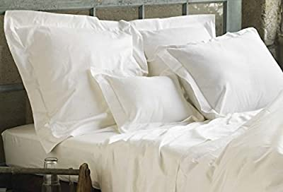 Linen Galaxy T400 White Egyptian Cotton Sateen Satin Flat Sheets Fitted Sheets Hotel Quality (Pillow Cases Sold Separately) All Items Sold Separately from Linen Galaxy