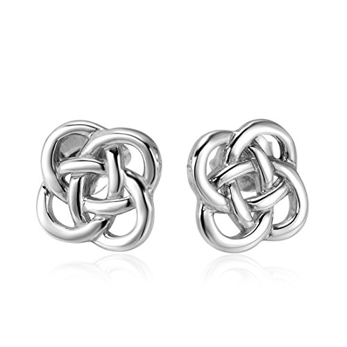 925 Sterling Silver Celtic Knot Stud Earrings