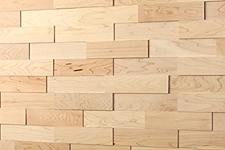 wodewa Paneles de Madera Para Pared Arce I 1m² Revestimiento de Paredes 3D Panel Decorativo Madera Interior Sala de Estar Cocina Dormitorio Mural Panel Madera