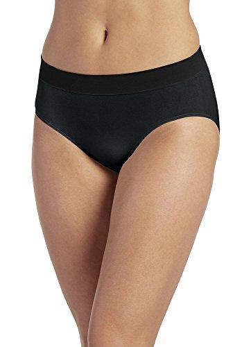 Jockey Women's Underwear Modern Micro Seamfree Hi Cut, Black, 5