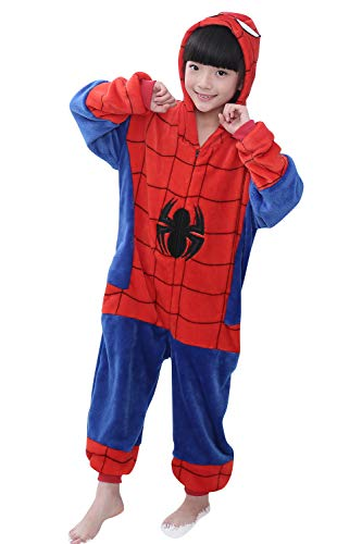 YAOMEI Kinder Onesies Kigurumi Pyjamas, Mädchen Jungen Tier Sleepsuit Nachtwäsche Hoodie, Halloween Kostüm Kleidung Weihnachten Cosplay Party (120 für Kinder Höhe 110-120CM (43