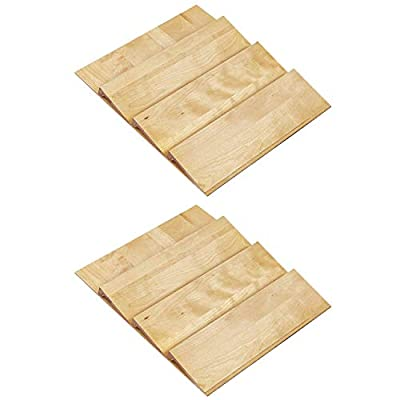 Rev-A-Shelf 24 Inch Spice Drawer Storage Organizer Insert, Maple (2 Pack) from Rev-A-Shelf