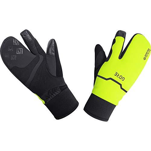 GORE WEAR Thermo Split Handschuhe, GORE-TEX INFINIUM, 8, Schwarz/Neon-Gelb