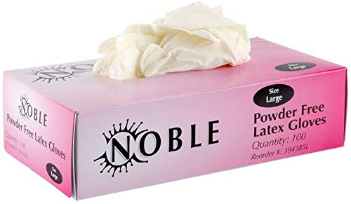 NOBLE Latex 4.5 Mil Thick Powder-free Textured White Disposable Gloves - Box Of 100 (large), 1count