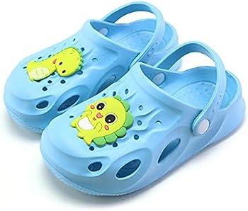 Ubfen Kids' Dinosaur Slide Sandals