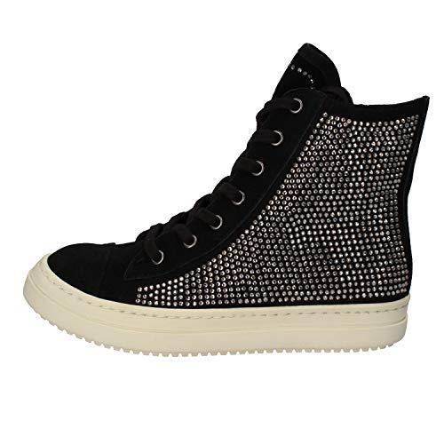 Twin-Set Sneakers Mujer Gamuza Negro 36 EU