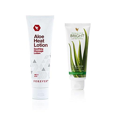 Aloe Vera Heat Loción & Aloe Vera Bright toothgel
