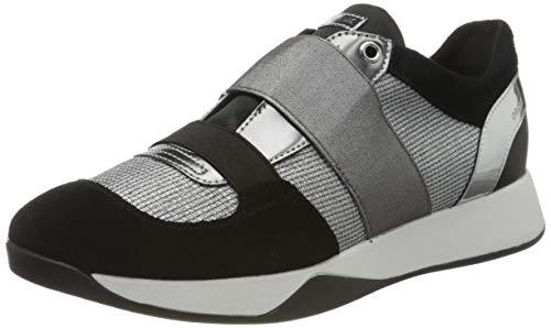 Geox D SUZZIE D, Zapatillas sin Cordones Mujer, Gris (Lt Grey/Black C0060), 40 EU
