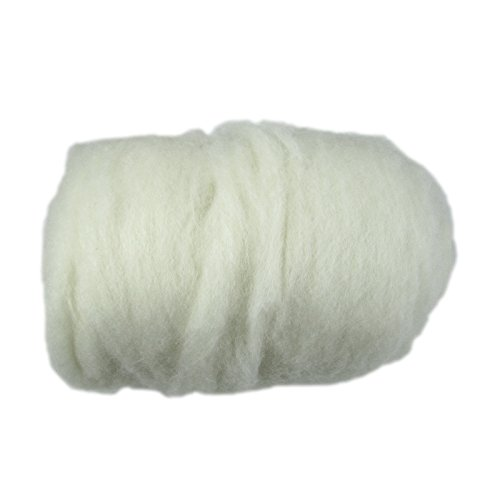 1 LB. Carded Wool Core Needle Wet Felting by Walking Palm