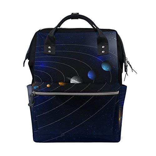 Bennigiry étoiles et Parade des planètes Sac à langer à Sac à dos Grande capacité de voyage à dos multifonctions Organiseur de sacs à couches bébé Sacs pour Mom