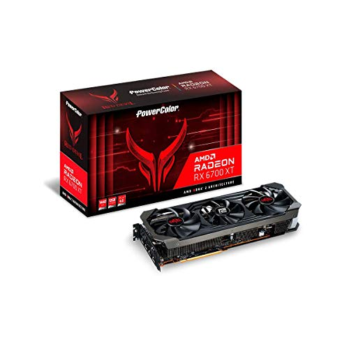 PowerColor Red Devil AMD Radeon RX 6700 XT Gaming Graphics Card with 12GB GDDR6 Memory, Powered by AMD RDNA 2, Raytracing, PCI Express 4.0, HDMI 2.1, AMD Infinity Cache