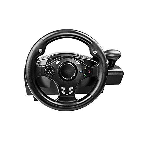 WSMLA Édition Racing Wheel GTB PS4 Roue, 270 degrés USB Universal Car Sim Race Volant avec pédales for PS4, PS3, PS2, PC, X360, NS Interrupteur