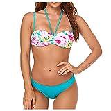VODMXYGG Traje de baño de Playa de Dos Piezas con Estampado Sexy para Mujeres de baño Adecuado Viajes Playa 0916302