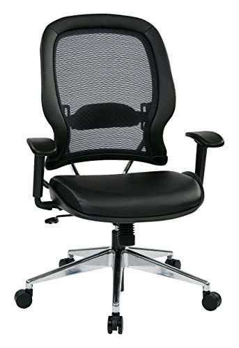 SPACE Seating Professional AirGrid Back and Eco Leather Seat and...