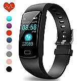 Polywell Fitness-Tracker, Aktivitätstracker mit Herzfrequenz-Monitor und Schlaf-Monitor, Bluetooth,...