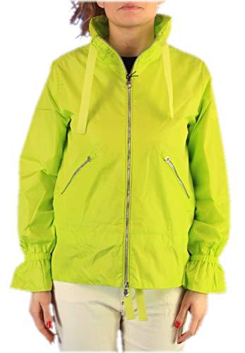 Save The Duck Giacca Donna D3875w Megax PE 2020 Cappuccio Impermeabile Gialla Nuova, 01740 Lime Green, 4