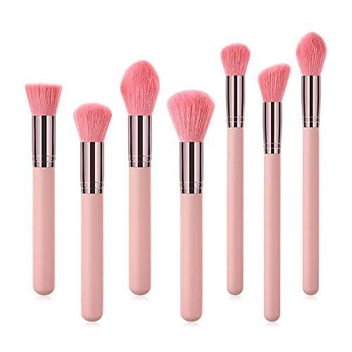 GH-YS Pinceau De Maquillage, 7 Outils De Maquillage d'oeil Facial De Maquillage De Cheveux en Nylon,Pink