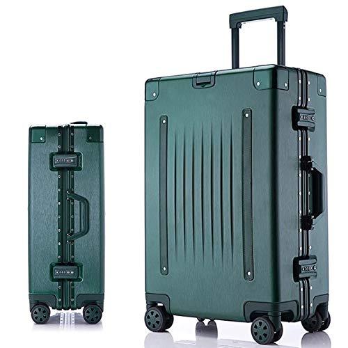 "AHJSN 20\'\'24\'\'26\'\'29\'\'Size Aluminium Rahmen hardside Roll Gepäck Reise Koffer auf rädern maleta Koffer kabine Koffer Trolley 24\"" as The Picture Shows"