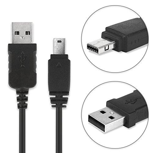 subtel® Cable USB dato 1m Compatible con Casio EX-F1 Exilim EX-ZR100 -ZR1000 -ZR200 -ZR300 EX-Z75 EX-H15 -H10 EX-FH20 -FH100 EX-S10 EX-G1 EX-Z90 EX-FC100, EMC-6 12 Pin a USB A, EMC6 Cable de Carga