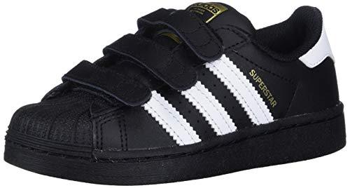adidas Originals Kids' Superstar Sneaker, Core Black/White/Core Black, 12.5K