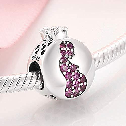Charm Kralen,Geboorte Geven Aan Het Leven Zwangere Moeder 925 Sterling Zilveren Bedel Roze Kralen Sieraden Maken Originele Bedels Armbanden Passen