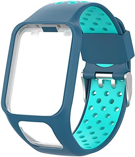Chainfo Compatible con Tomtom Spark/Spark 3 / Runner 2 / Runner 3 / Golfer 2 / Adventurer Correa de Reloj, Banda de Reemplazo Silicona Suave Sports Pulsera (Pattern 5)