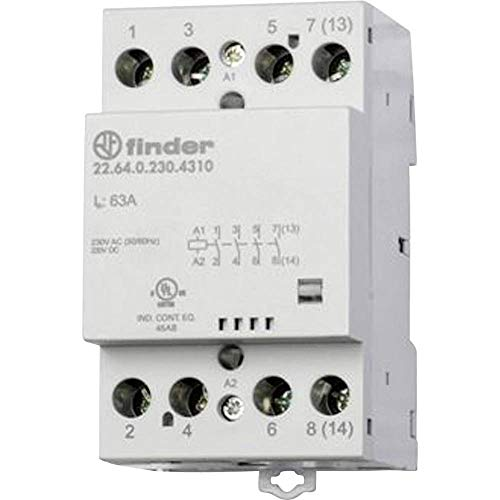 Finder serie 22 - Contactor modular 6 contacto 40a 230v 3na+1nc mecanismo