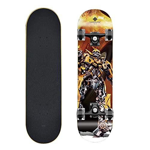Taisei Monopatín De Longboard Profesional Complete 9 Capas De Plataforma 31'x8 Hornet Skate Board Maple Wood Longboards para Adultos Adolescentes Jóvenes Principiantes para Niños Niños Niños