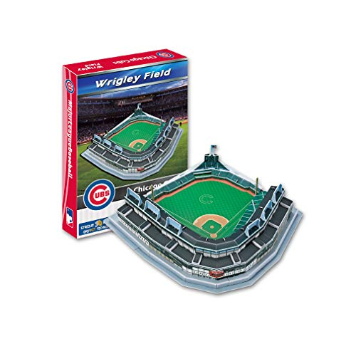 Pessica Stadium 3D Jigsaw,Mlb Chicago Cubs Team Home Game Wrigley Baseball Field Model Fans Souvenir Diy Puzzle