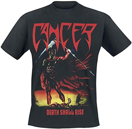 Cancer T Shirt Death Shall Rise Band Logo Death Metal Official Mens Black Size M