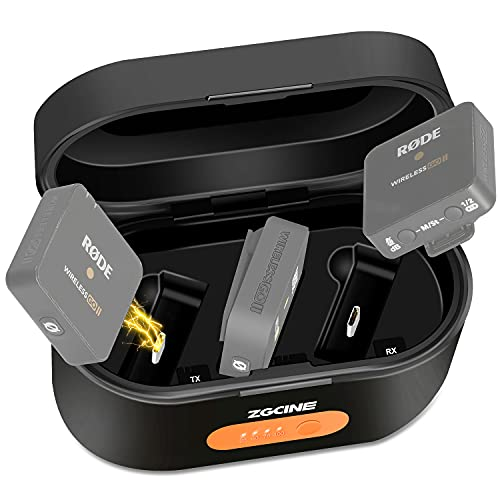 Wireless Charging Case Compatible for Rode Microphones Wireless GO 2 & Rode Microphones Wireless GO