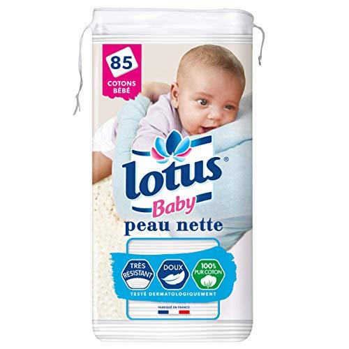 Lotus Baby peau nette - Cotons bébé - Le paquet de 85
