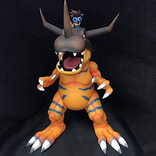 YLLAND Figuras de anime Digimon Greymon Tai Kamiya Modelo Estatua Juguetes de Personaje Muñeca de PVC Juguete coleccionable Regalo Anime Carácter Modelo LNNDE