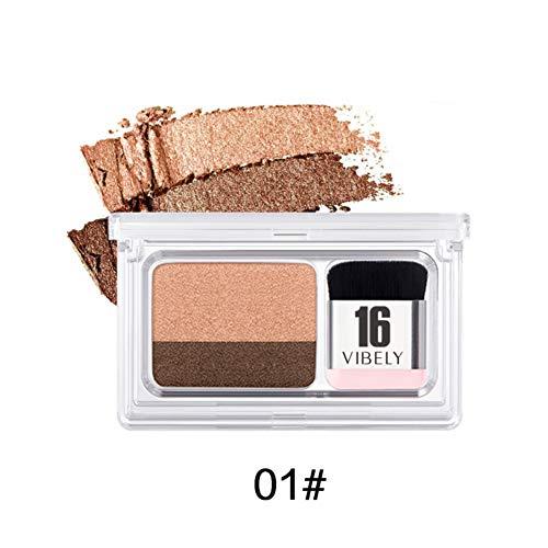 2 Farben Lidschatten Kosmetische Augen Make-up Doppel Farbverlauf Schatten Lidschatten Natürliche...