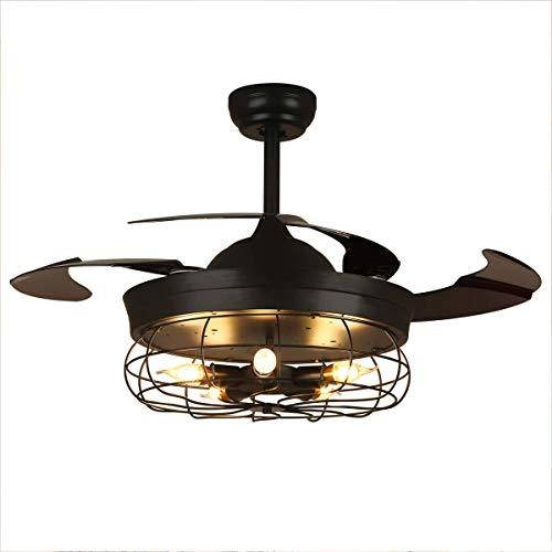 Plafondventilator, met afstandsbediening Intrekbare bladen Kroonluchter Verlichtingsarmatuur Onzichtbare verlichtingsset, voor slaapkamer Woonkamer
