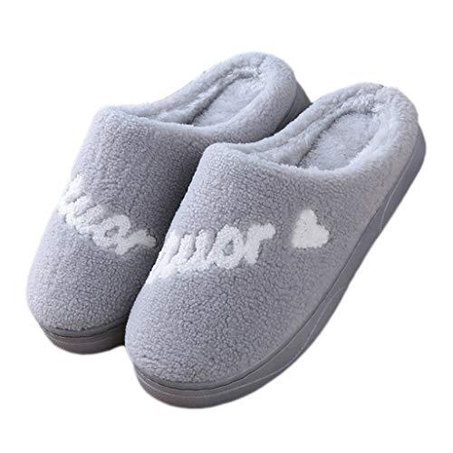 AMINSHAP katoenen pantoffels vrouwen winter antislip sterke onderkant zachte onderkant ademende pluche warme snoepjes