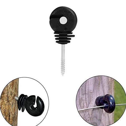 VinBee 20Pcs Black Electric Fence Insulator Screw-in Insulator Fence Ring Post Wood Post Insulator