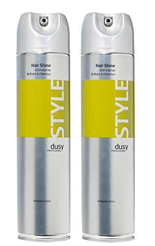 Dusy Professional Hair Shine Glanzspray 400ml 2 Stück