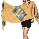 Moda creativa lindo electrodoméstico divertido bufanda flecos bufanda hombres diseñador bufanda 77x27 pulgadas / 196x68 cm grande suave pashmina extra cálido