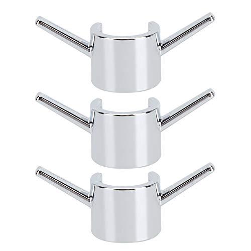 OIHODFHB 3 unids galvanoplastia baño ducha varilla ganchos cocina agua grifo gancho accesorios