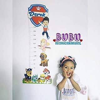 Medidor infantil con diseño de Patrulla Canina y nombre ...