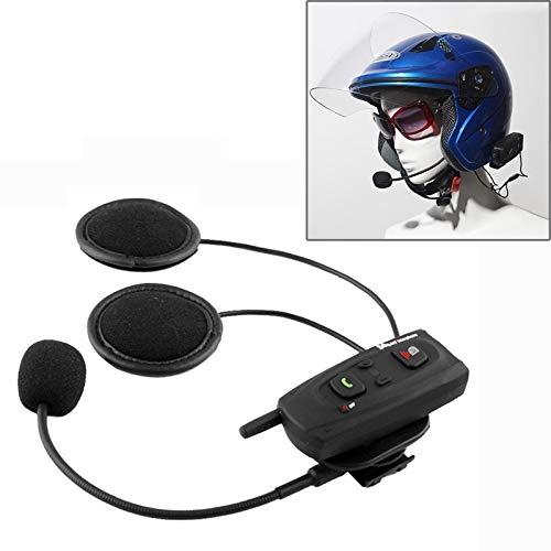 QIAOZHOO V2-1000 1000m Bluetooth Sprechanlage-Kopfhörer for Motorrad-Sturzhelm, Max Support: Zwei Fahrer von Bluetooth-System (Schwarz)