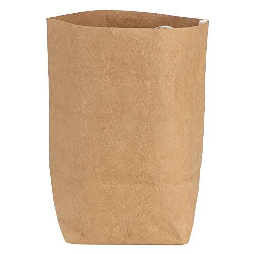 Wasbare papieren zak Dikke bruine papieren zak Multifunctionele opbergtas Recyclebare plantentas Bloempot Grote capaciteit Boodschappentas voor fruit, groenten, leven (XL)