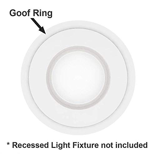 """5 Pack White Plastic Trim Ring for 8"""" Inch Recessed Can Down Light Oversized Lighting Fixture"""