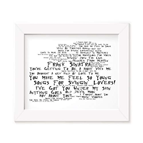 Frank Sinatra Poster Print - Songs For Swingin' Lovers! - Letra firmada regalo arte cartel