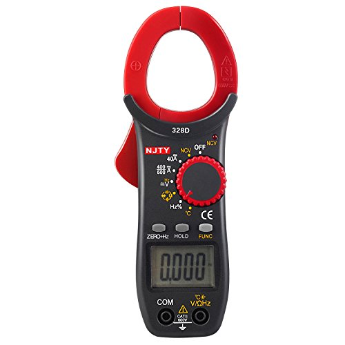 ELIKE 328D 600A AC/DC Current Auto-Ranging 3999 Digital Clamp On Meter & Multimeter with NCV,Diode,Continuity,Temperature,Frequency and Capacitance Tester
