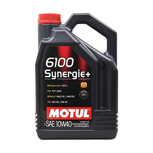 Motul 101491/74 Motor Schmieröl 6100 SYNERGIE+ 10W40 4L