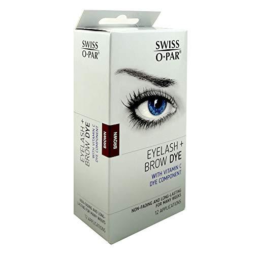 Swiss O Par Eyelash and Brow Dye Tint Color Kit BROWN