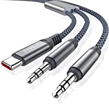 TITACUTE USB C to 3.5mm Audio Aux Cable, Type C to 3.5mm Jack Headphone Adapter USB C Car Audio Stereo Cable Adapter Compatible with Samsung Galaxy S20 FE/ S20, OnePlus 8T/ 8/8 Pro/ 7T (2M/6.6 FT)